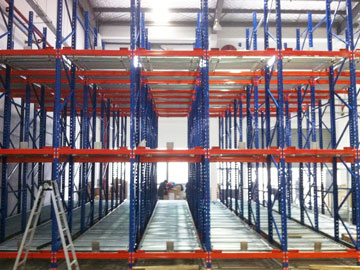 Gravity Pallet Racking System